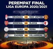 Drawing Perempat Final Liga Europa: MU dan Arsenal Selamat, Roma Ditantang Ajax