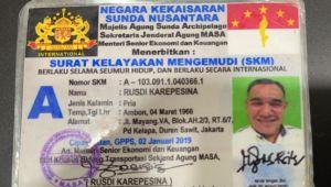 Heboh! Begini Penampakan SIM dan STNK Negara Kekaisaran Sunda Nusantara
