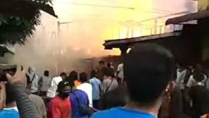 34 Rumah Hangus Terbakar di Pasar Belakang Sibolga