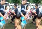 Viral, Aksi Penyelamatan Seorang Anak Diduga Tenggelam di Padangsidimpuan
