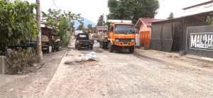 Perbaikan Tak Berkualitas, Jalan MT Haryono Padangsidimpuan Rusak Parah