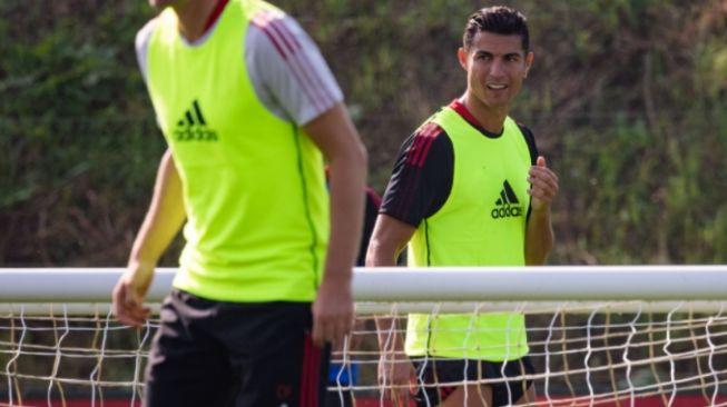 Cristiano Ronaldo Latihan Perdana Bareng Skuad Manchester United