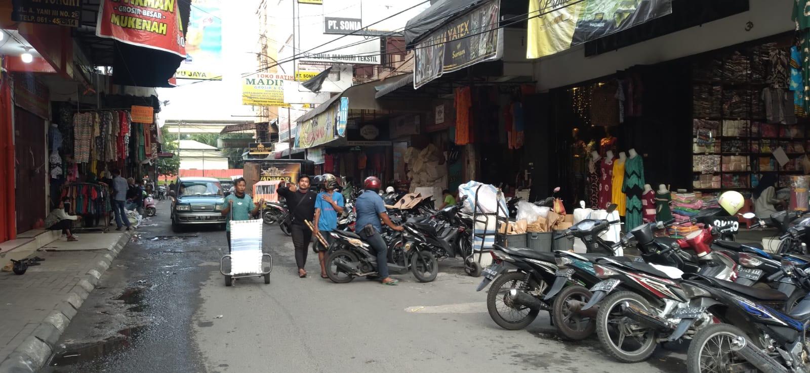 PPKM Level 4 Longgar, Pasar Ikan Lama Medan Mulai Dipadati