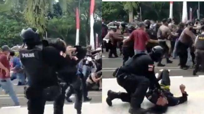 Viral! Mahasiswa Demo Dibanting hingga Kejang-kejang, Warganet: Pasti Polisinya Bangga