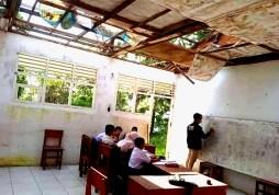 Miris! SD Negeri di Padangsidimpuan Tanpa Atap, Disdik: Itu Karena Dicuri