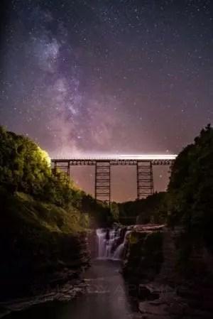 Lighting the Way-2 train waterfall