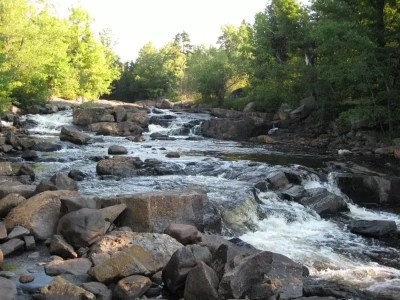 Roberts Road Falls on, Little Black Creek, Oneida County, New York