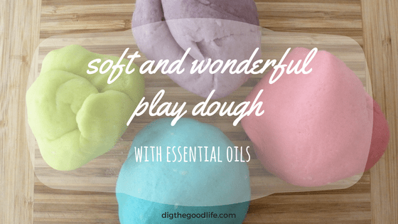 soft and wonderful essential oil play dough
