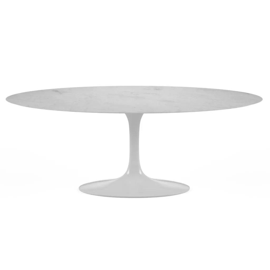 table ovale tulipe marbre diiiz