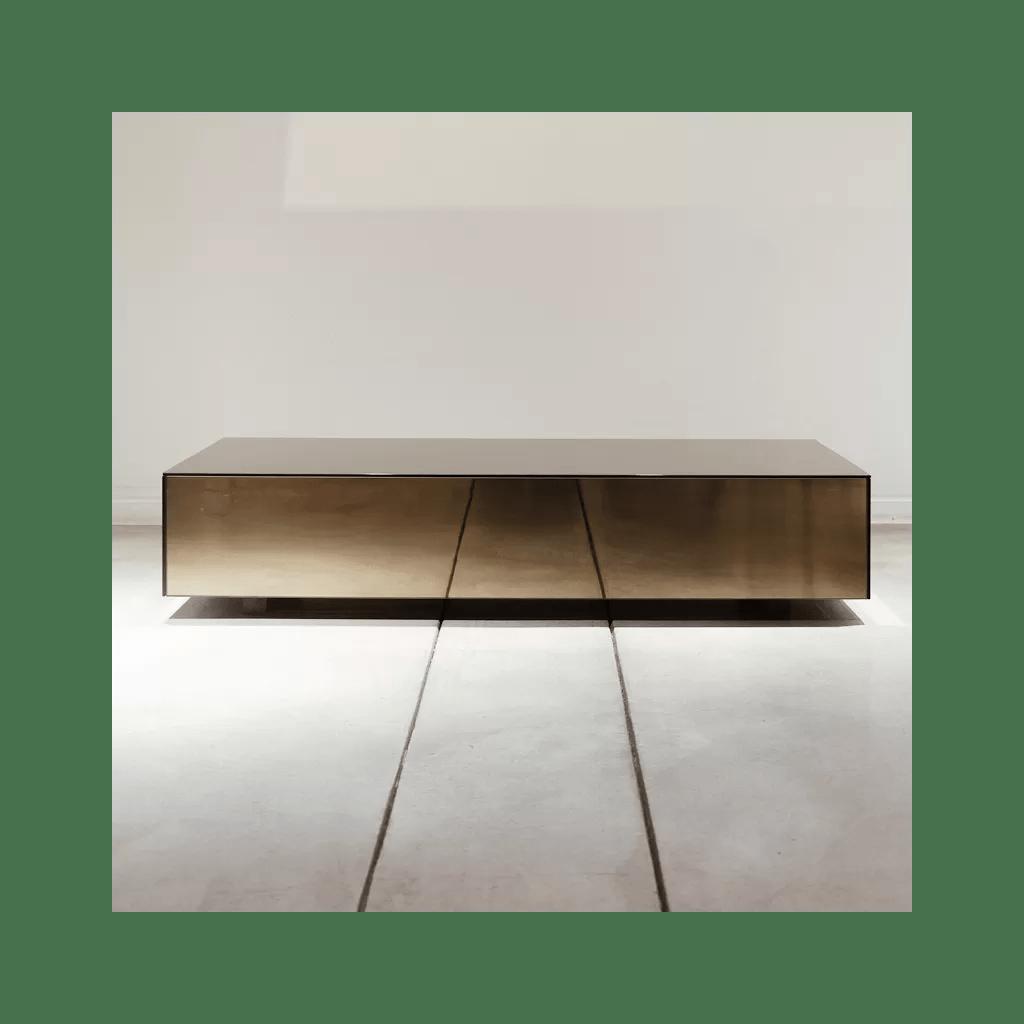 square low table mdf and mirror belgian designer reflekkt diiiz