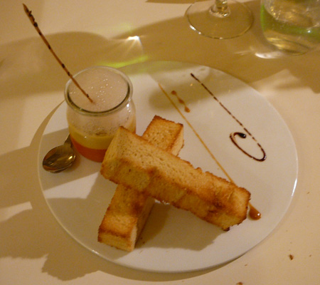 Monjul restaurant Paris foie gras potirons
