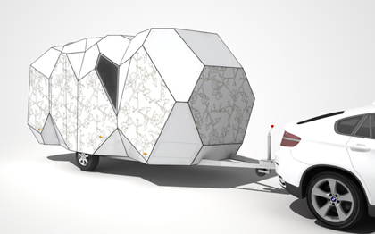 Caravane tendance diamant polygone