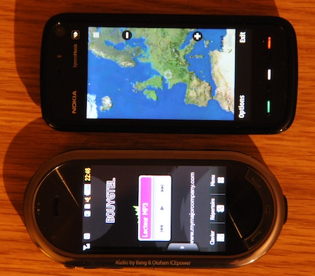 Comparaison Samsung Platine/Nokia 5800 Xpress Music comparatif