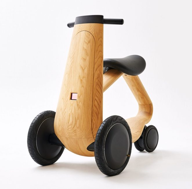 scooter électrique design bois
