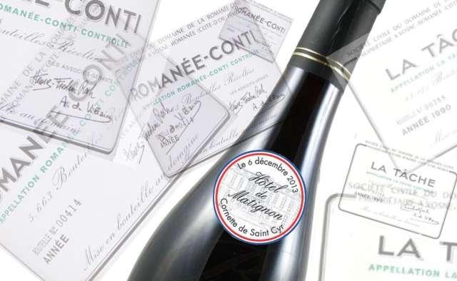 Romanée Conti 2004 et la Tâche 1990, deux stars bourguignonnes d'une vente de prestige © D.R./Studiomag