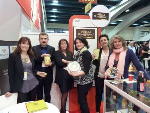 Les producteurs bourguignons lors du Winter Fancy Food Show à San Francisco