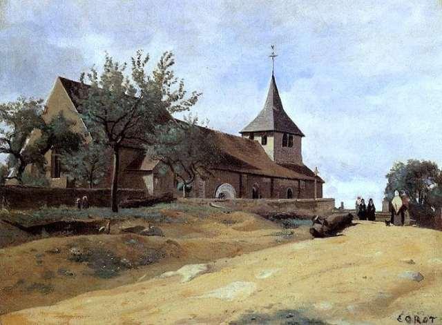 Corot_-_Eglise_de_Lormes