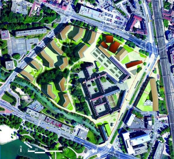 Plan masse Cité gastro