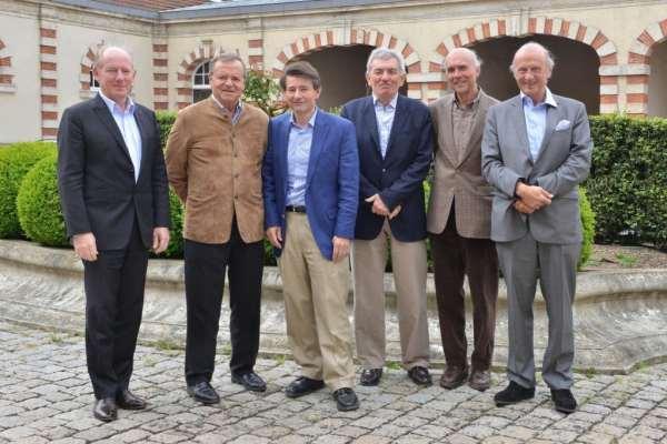 12 de coeur fondateurs Michel Boss_ JeanClaude Rouzaud_PierreHenry Gagey_JeanPierre Perrin_Aubert de Villaine_JeanFrançois Moueix
