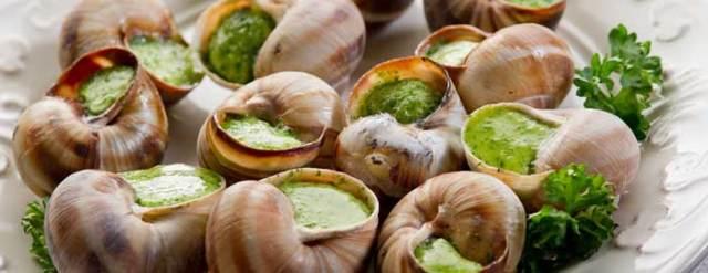 Des escargots dans une assiette