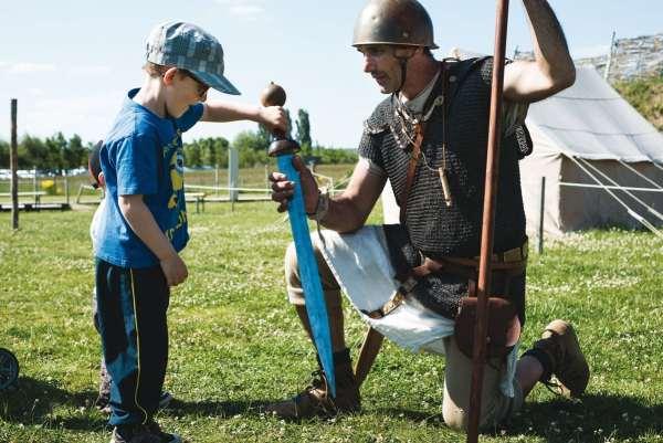 Le légionnaire romain. Photo de Sonia Blanc