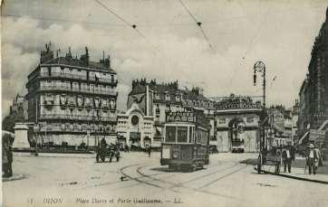 L'ancêtre du tramway dijonnais. Carte oblitérée en 1918