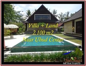 TANAH di UBUD BALI DIJUAL MURAH 2,190 m2  View sawah, kebun, link Villa
