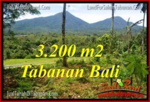 TANAH DIJUAL di TABANAN 3,200 m2  View gunung dan sawah