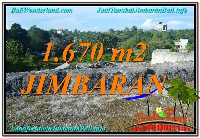 JUAL TANAH di JIMBARAN BALI 1,670 m2  Lingkungan Villa