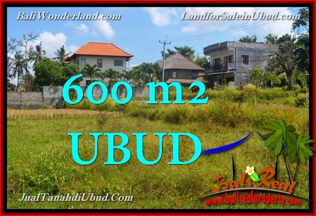 TANAH MURAH di UBUD BALI 600 m2  View Sawah link Villa