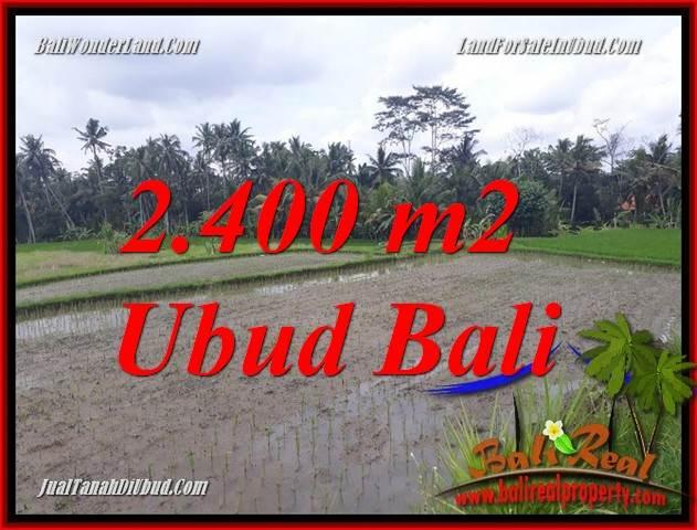 Tanah Dijual di Ubud BALI 2,400 m2 View sawah