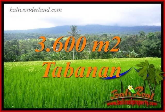 JUAL Murah Tanah di Tabanan 3,600 m2 View Gunung dan Sawah