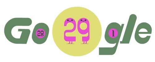 Αφιερωμένο στο δίσεκτο έτος το doodle της Google