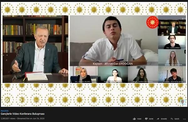 Τηλεδιάσκεψη Ερντογάν