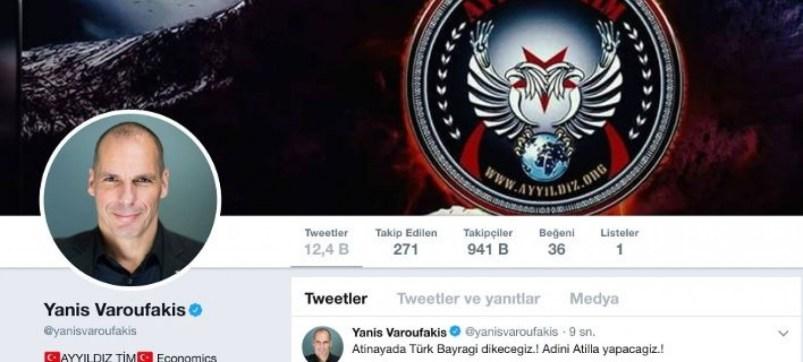Τούρκοι χάκερς κατέλαβαν το twitter του Βαρουφάκη - Του επιτέθηκαν λεκτικά