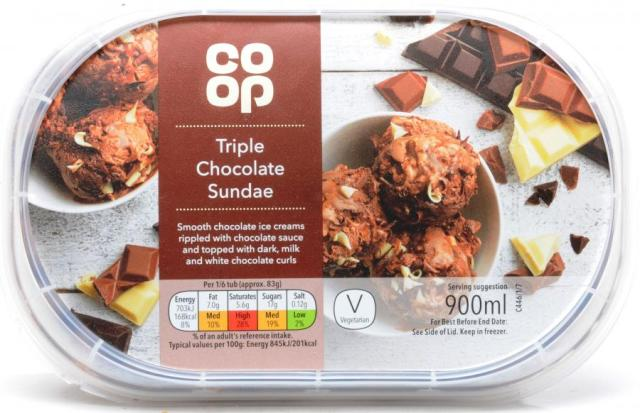 Image result for coop triple chocolate ice cream