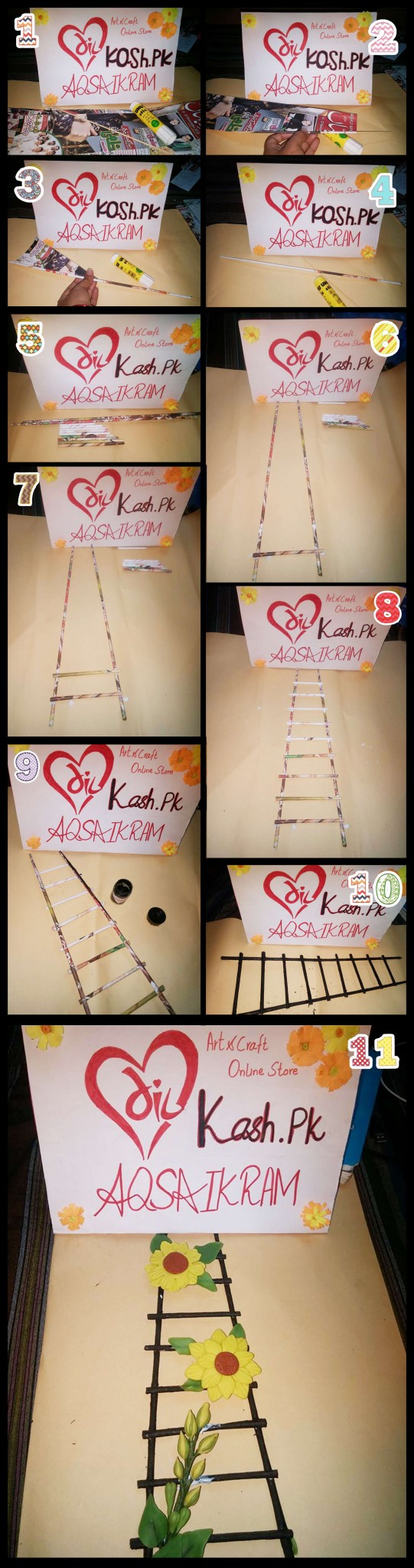 Ladder making method with Newspaper Tutorial