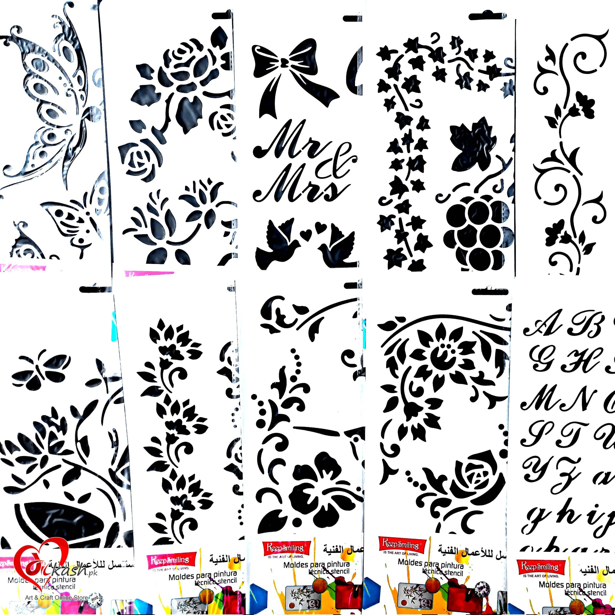 8x12 Inches Wall Stencils for Painting Designs | Art & Craft Online ...