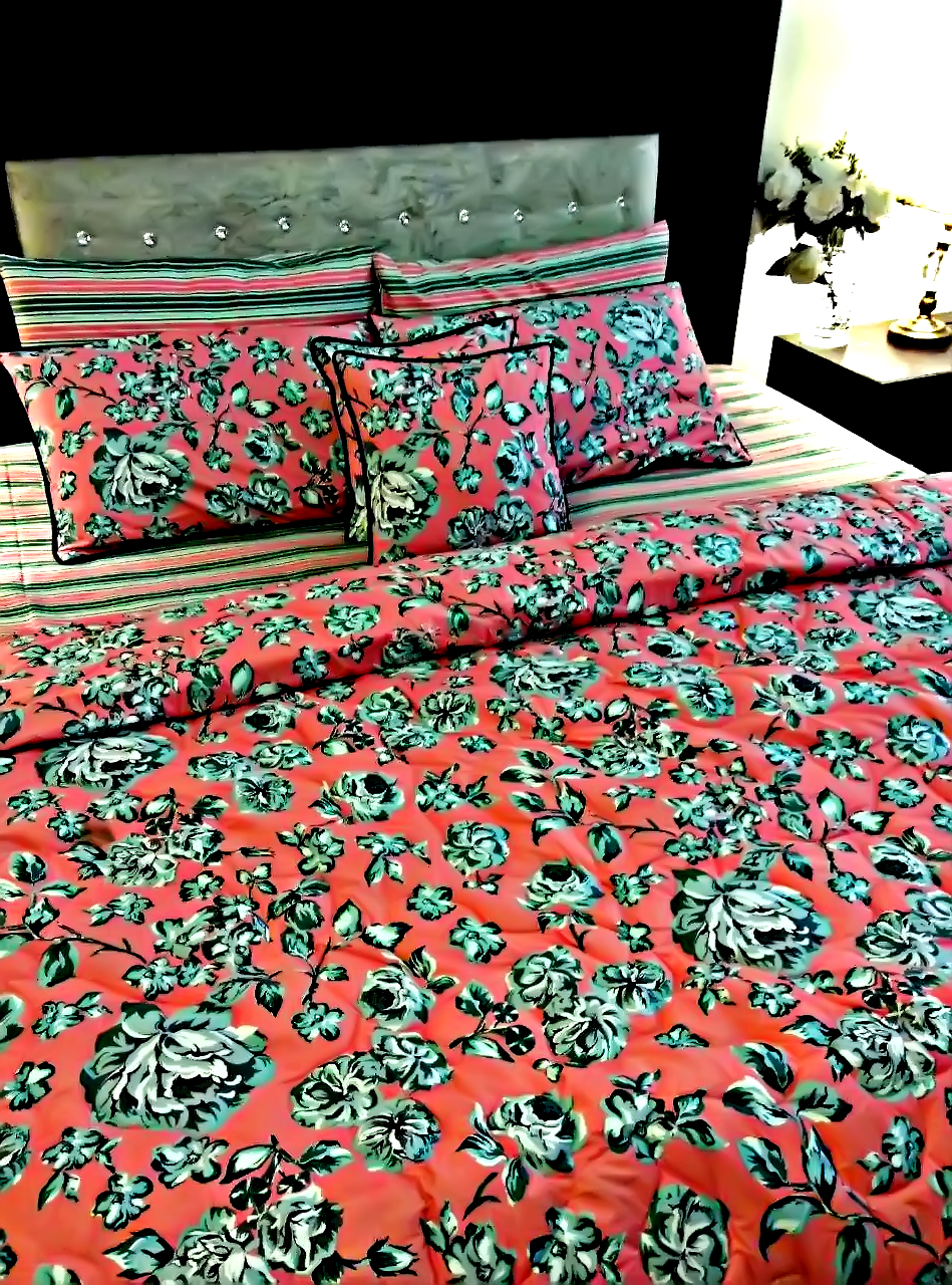 Bed Sheet Design 8 Pieces – King Size – Comforter Sets – Duvet Covers – 11135