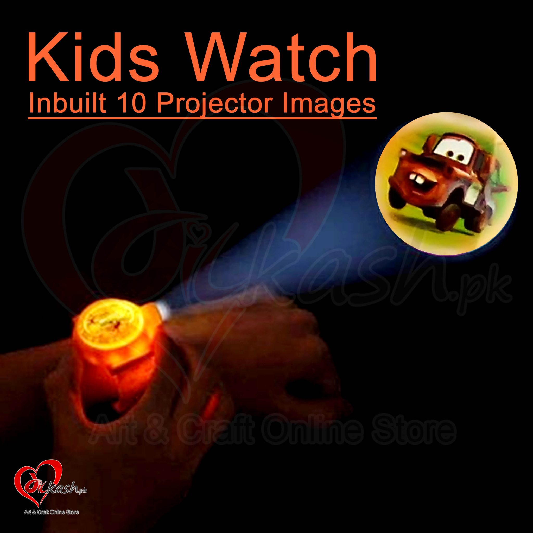 Kids Watches with Inbuilt 10 Projector Images of Cars NO.ZL8510C