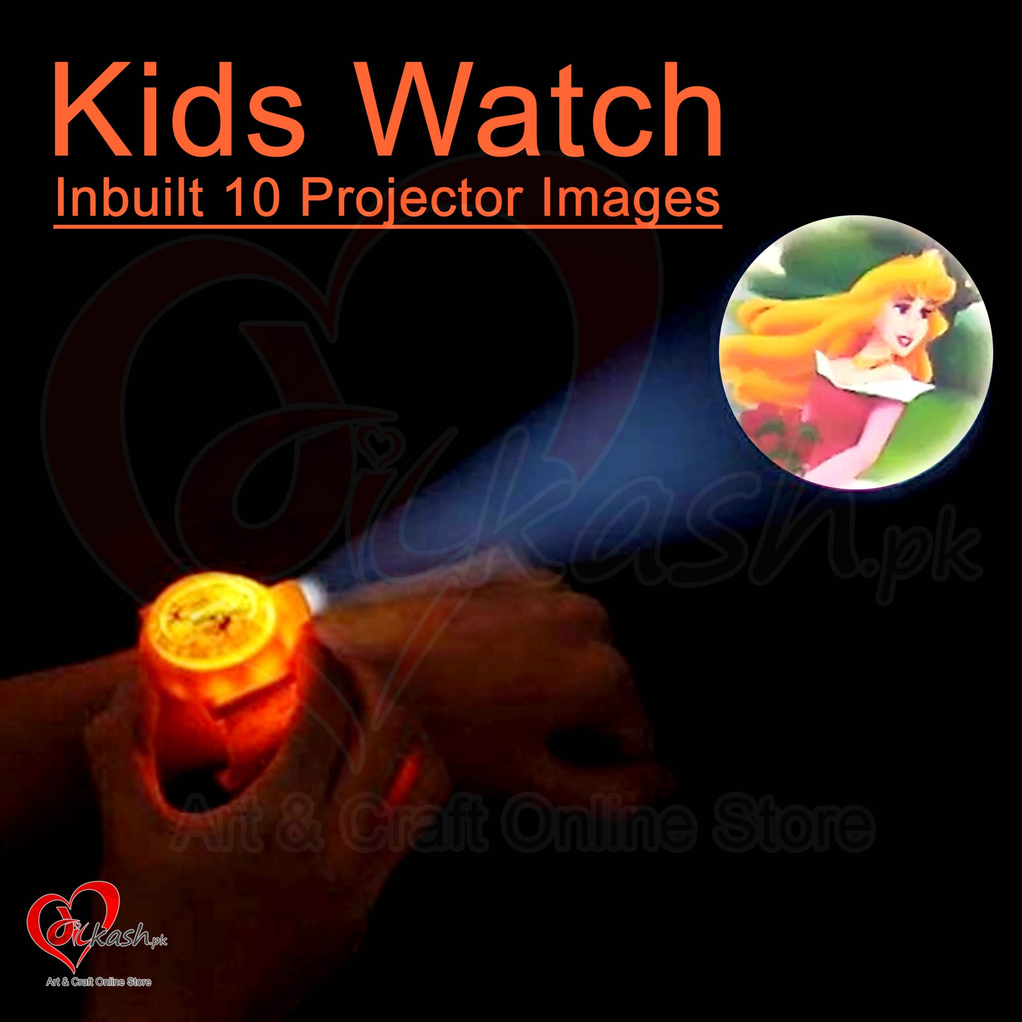 Kids Watches with Inbuilt 10 Projector Images of Princess NO.ZL8510F