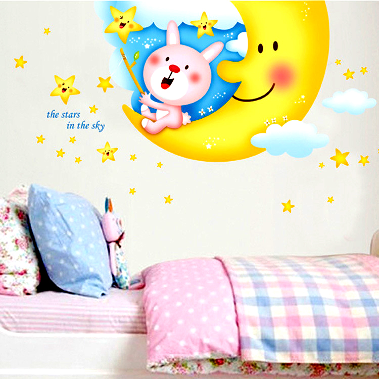 Enjoyable Wall Decor Stickers Children Bedroom Cartoon Wall Stickers Xy 1130 Home Interior And Landscaping Pimpapssignezvosmurscom