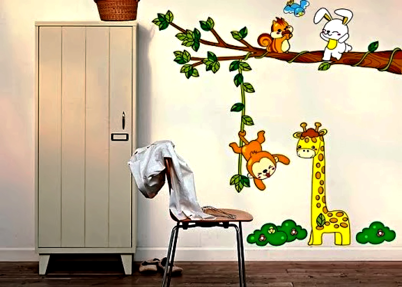 Wall Decor Stickers - Jungle Animals Wall Stickers - XY-1019