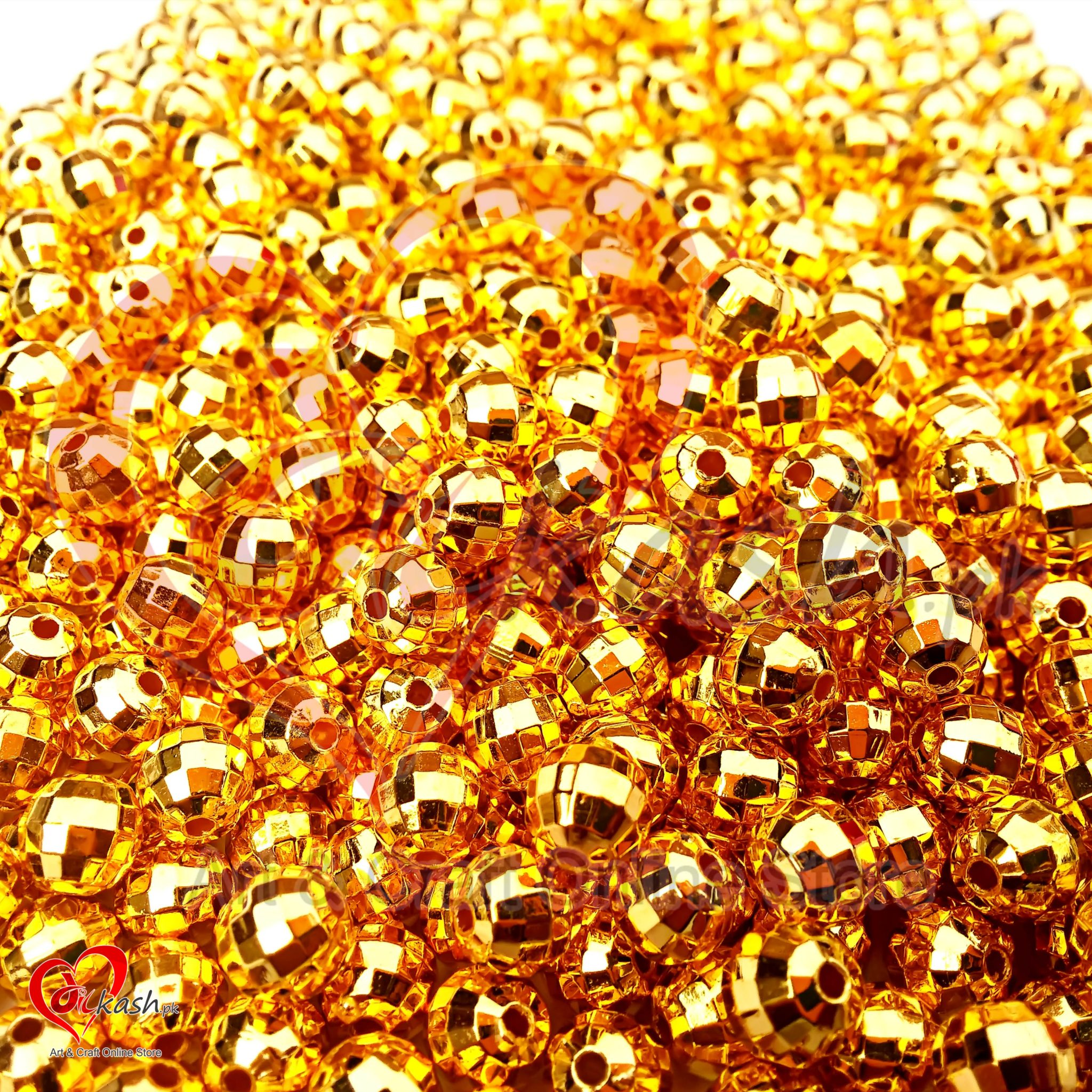 lure yellow sparkle llc craft gold beads round beadtin smooth