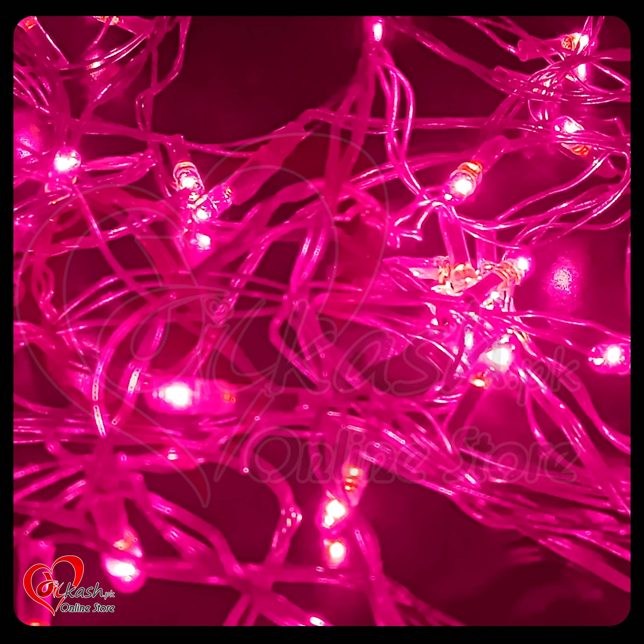 Fairy Lights Decoration LED Still - Christmas Lights - 25 Feet Long - Pink