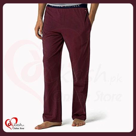 Tommy Hilfiger Trousers - Tommy Hilfiger Clothing - Maroon Light Weight Trousers