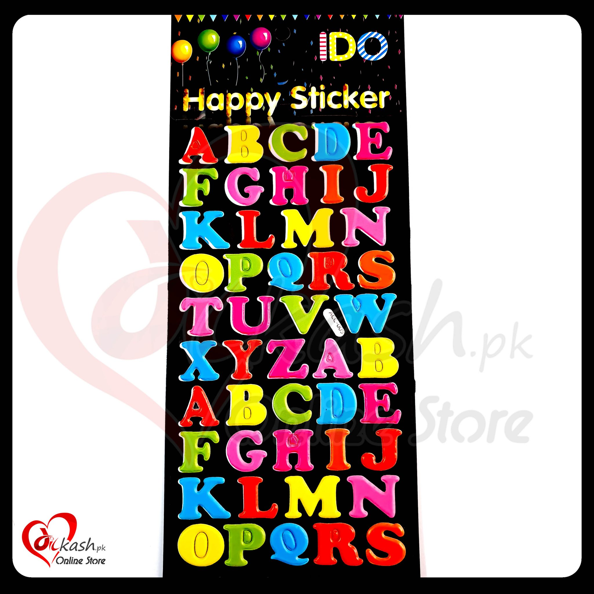 Stickers Online - Alphabet Happy Sticker - ACC-005