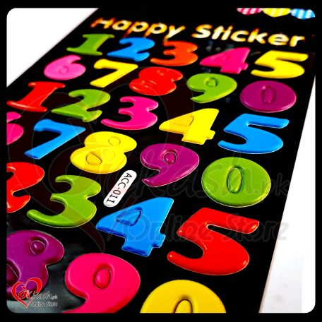 Stickers Online - Numbers Happy Sticker - ACC-011