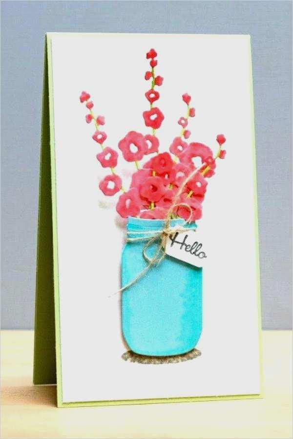 Kartenbasteln Fuer Fruehling Basteln Geburtstagskarte In Pink