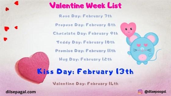 kiss day valentine week | when kiss day